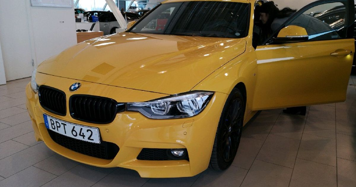 Has Anyone Ever Seen An F30 In Speed Yellow Before