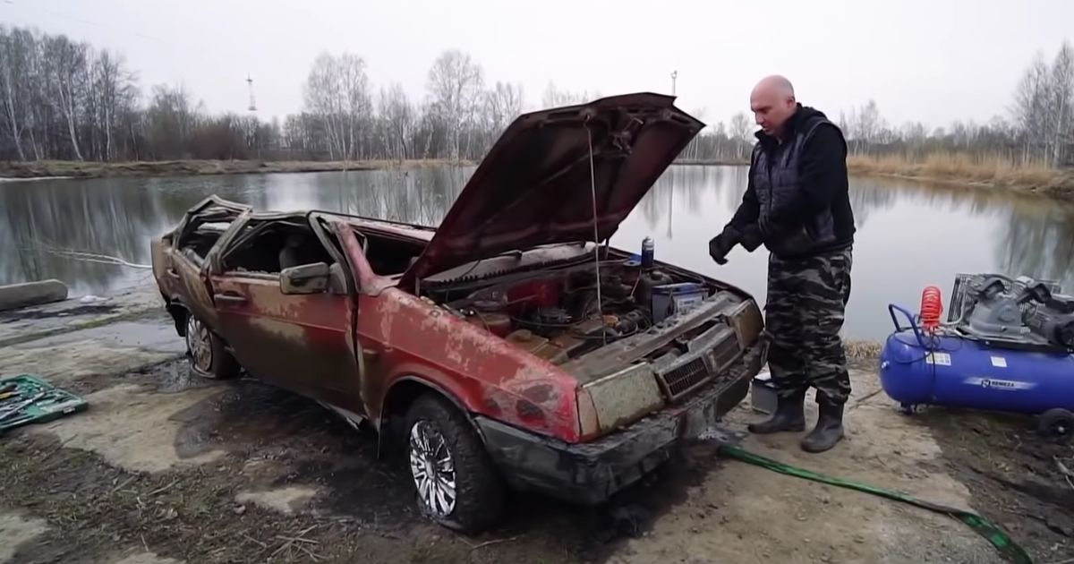 Can You Start A Lada That s Spent Six Months At The Bottom Of A Lake?