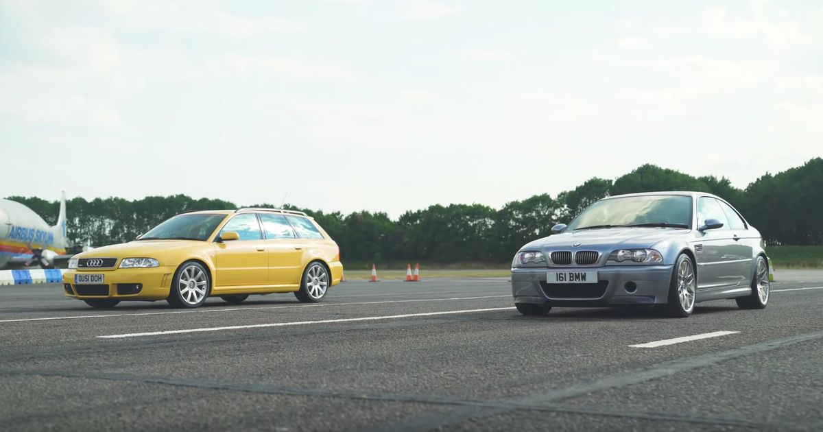 Here s What Happens When A BMW M3 CSL Drag Races A B5 Audi RS4