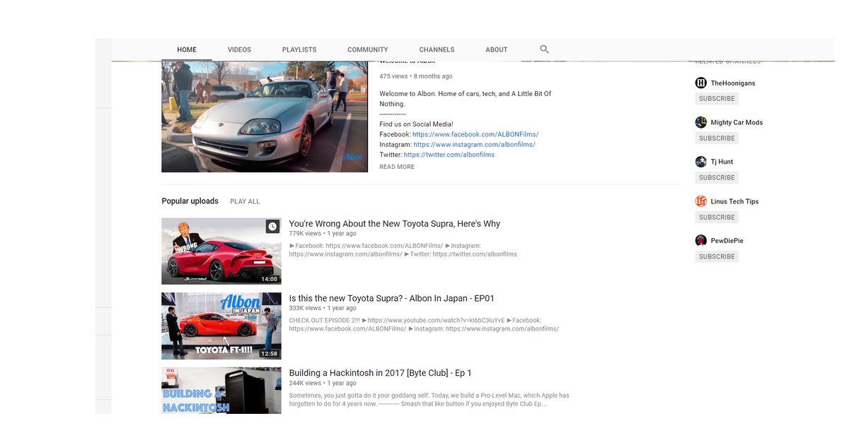 Albon, A high Quality JDM focused youtube channel