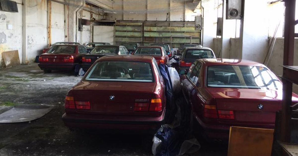 11 Unused E34 BMW 5-Series Have Been Unearthed In Bulgaria