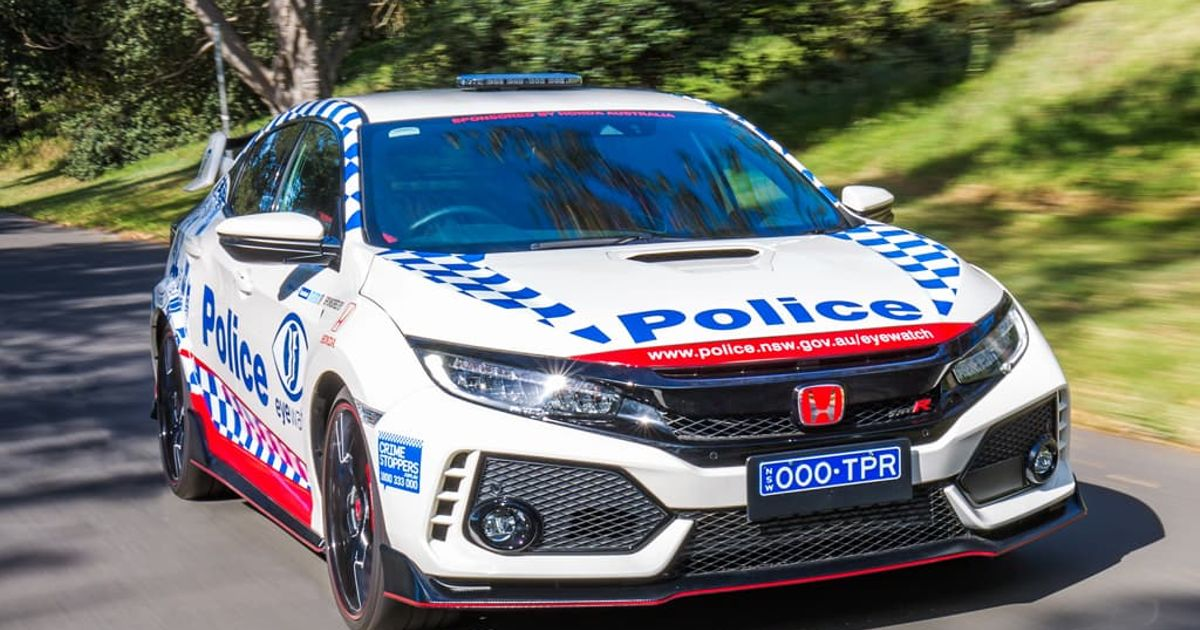 Honda Just Gifted Australian Police A Honda Civic Type R