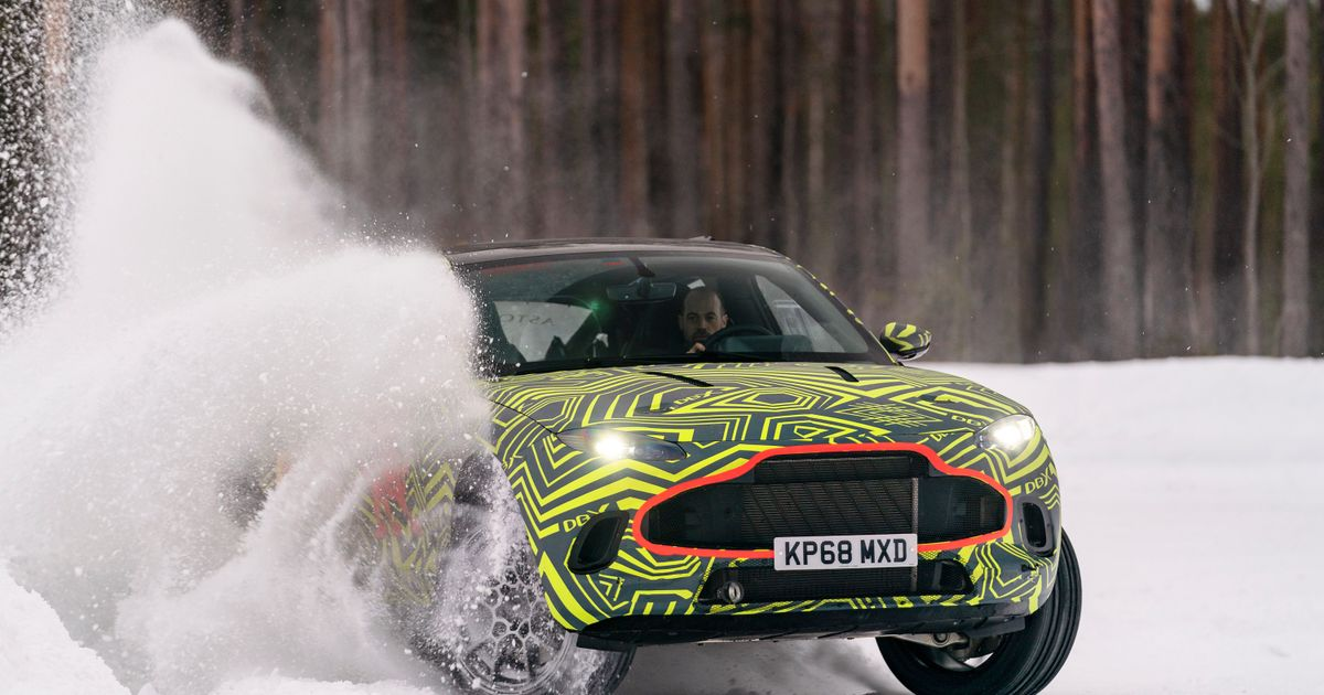 Here s The New Aston Martin DBX Powersliding Around In The Snow
