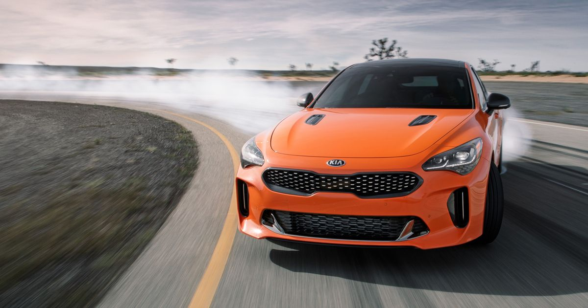 Kia's AWD Stinger GTS Has Landed And Drift Mode Seems To Work