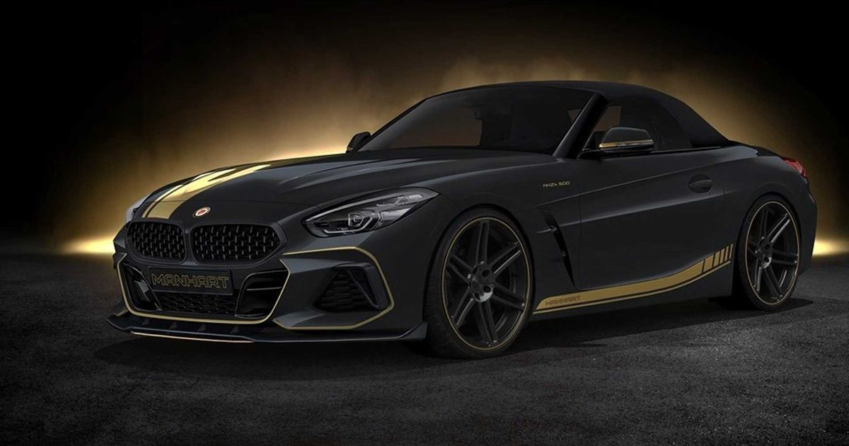 Check Out The New Manhart BMW Z4's Moody Gold On Black