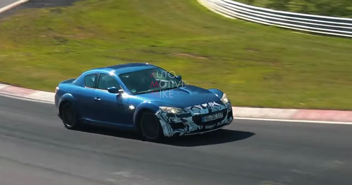 Mazda's Testing An RX-8 Mule At The Nurburgring And We're Excited