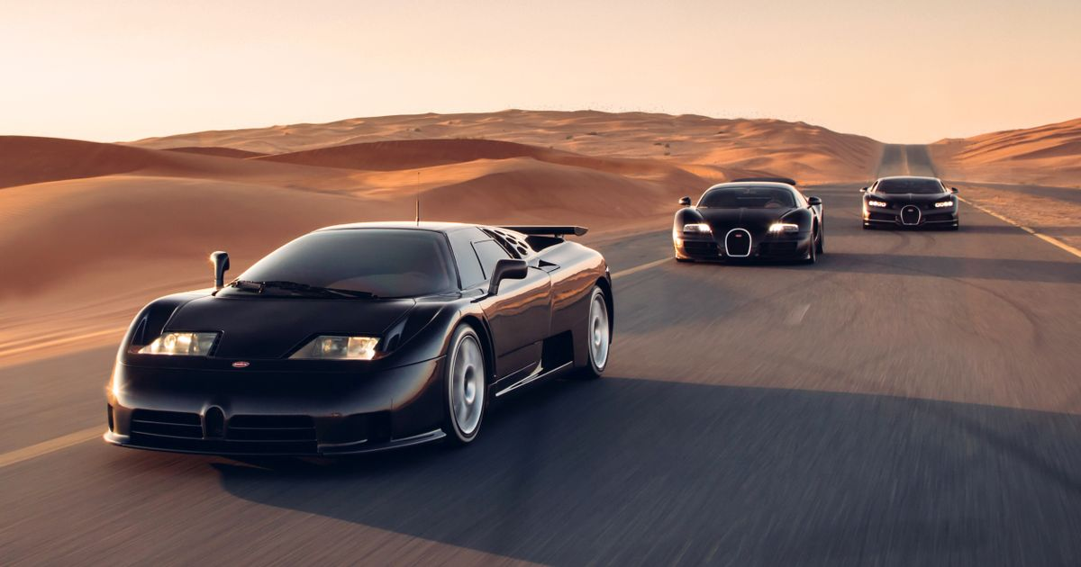Three Generations Of Quad-Turbo Bugatti Come Together For Incredible Photocall
