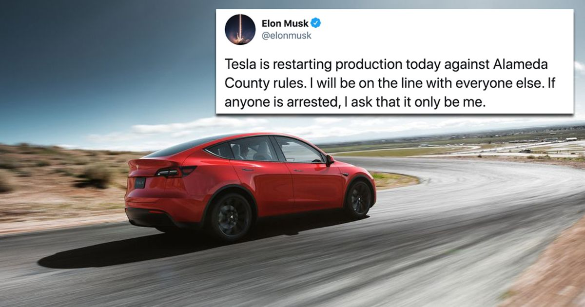 Musk Offers To Be Arrested As Tesla Factory Reopens Against County Order