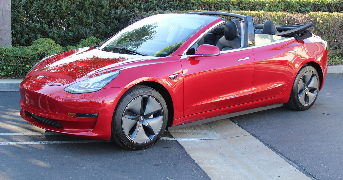 If You Really Must, This Company Will Turn Your Tesla Model 3 Into A Cabriolet