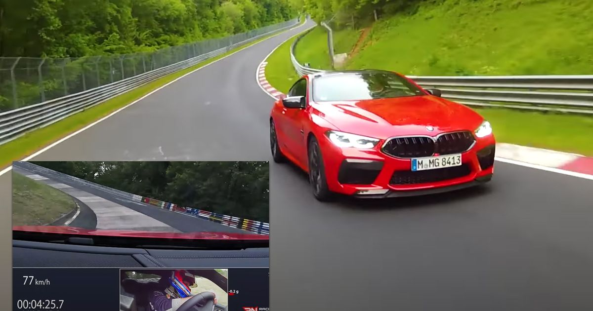 Watch The BMW M8 Smash Out A 7min 32sec Nurburgring Lap