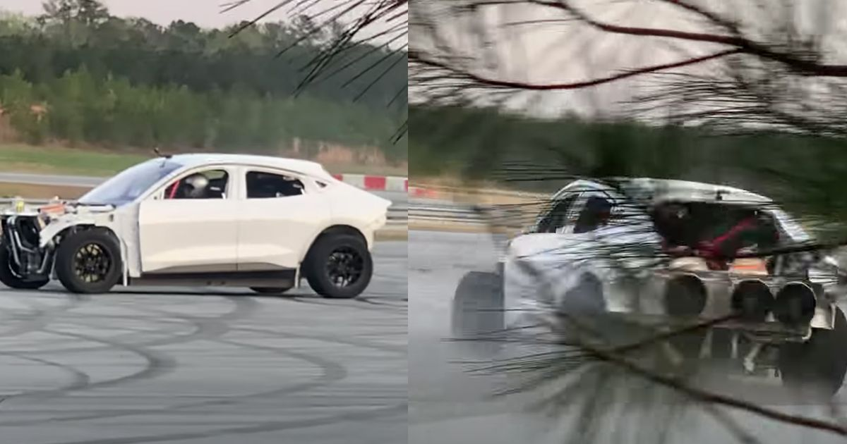 Half Naked Ford Mustang Mach E Prototype Shreds Rubber In Weird, Probably Staged Video