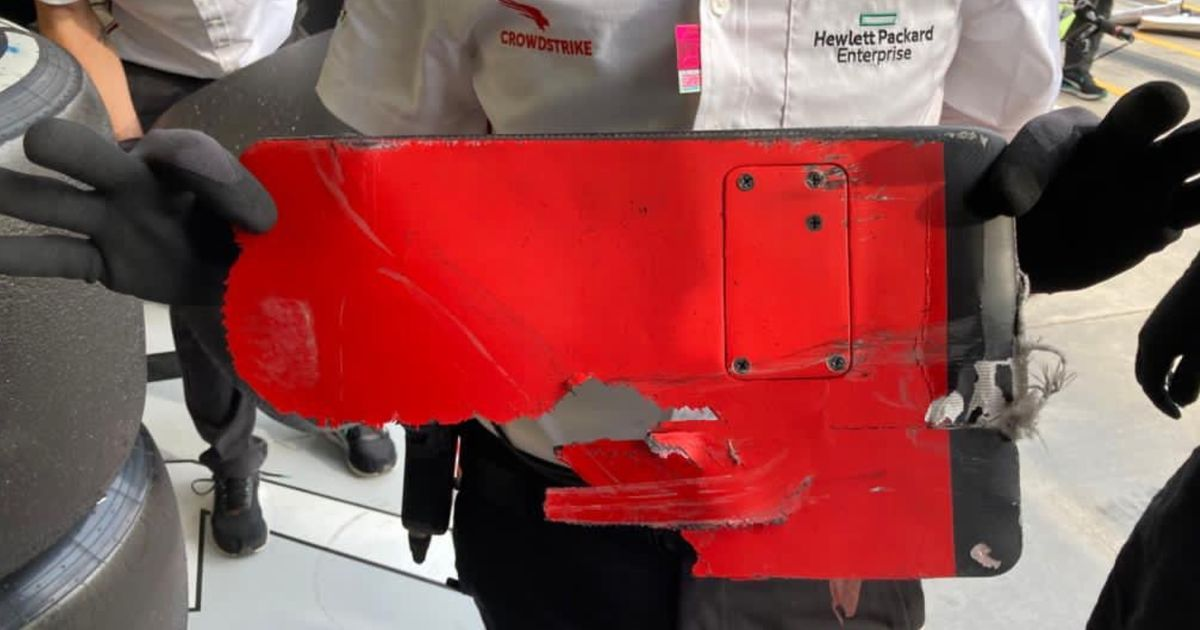 Valtteri Bottas Had A Big Chunk Of Ferrari Stuck To His Car During The Imola GP