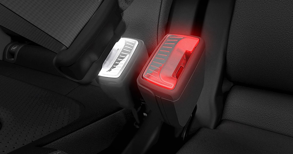 Skoda s Illuminated Seat Belt Buckle Is A Neat Idea We re Surprised No One Thought Of Before