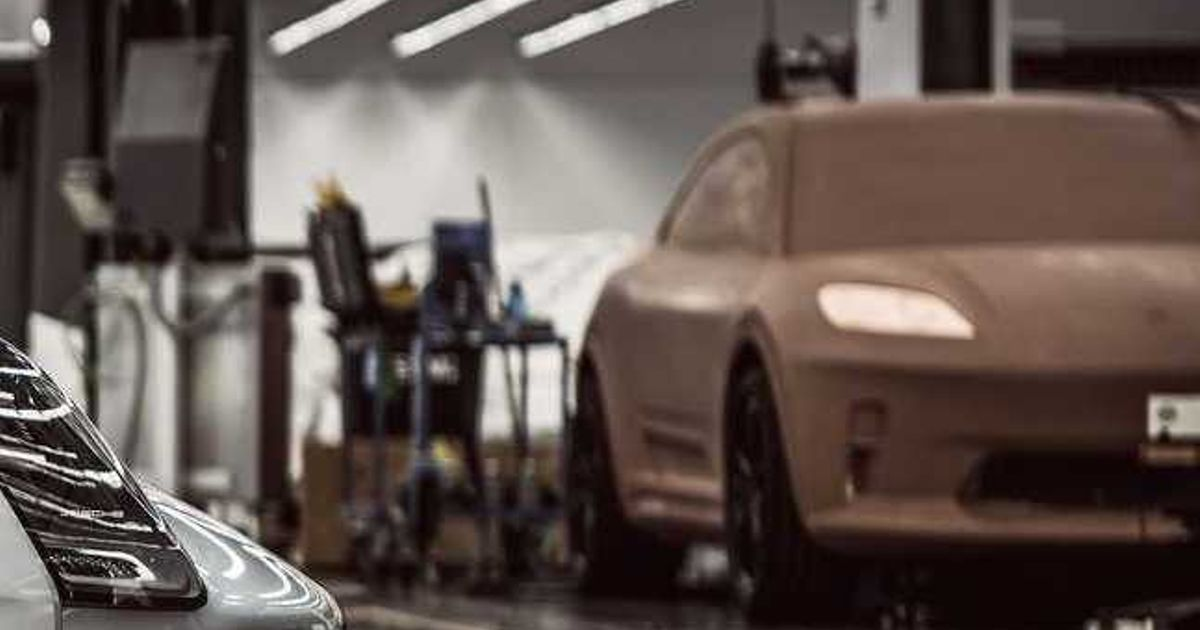 Porsche  Accidentally  Reveals Electric Macan With Secret Clay Model