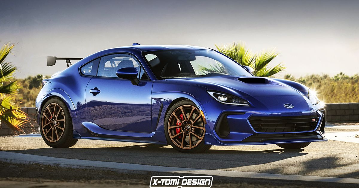 Here s How The Subaru BRZ Looks As An STI And A Convertible