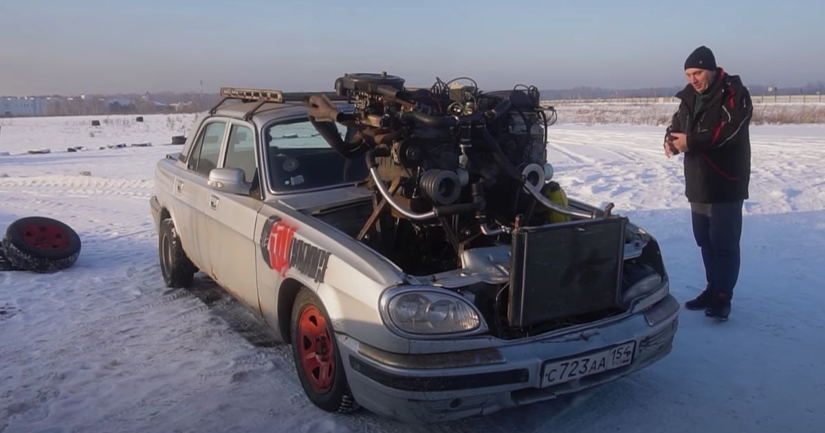This DIY  V12  Is Made From Three Lada Engines