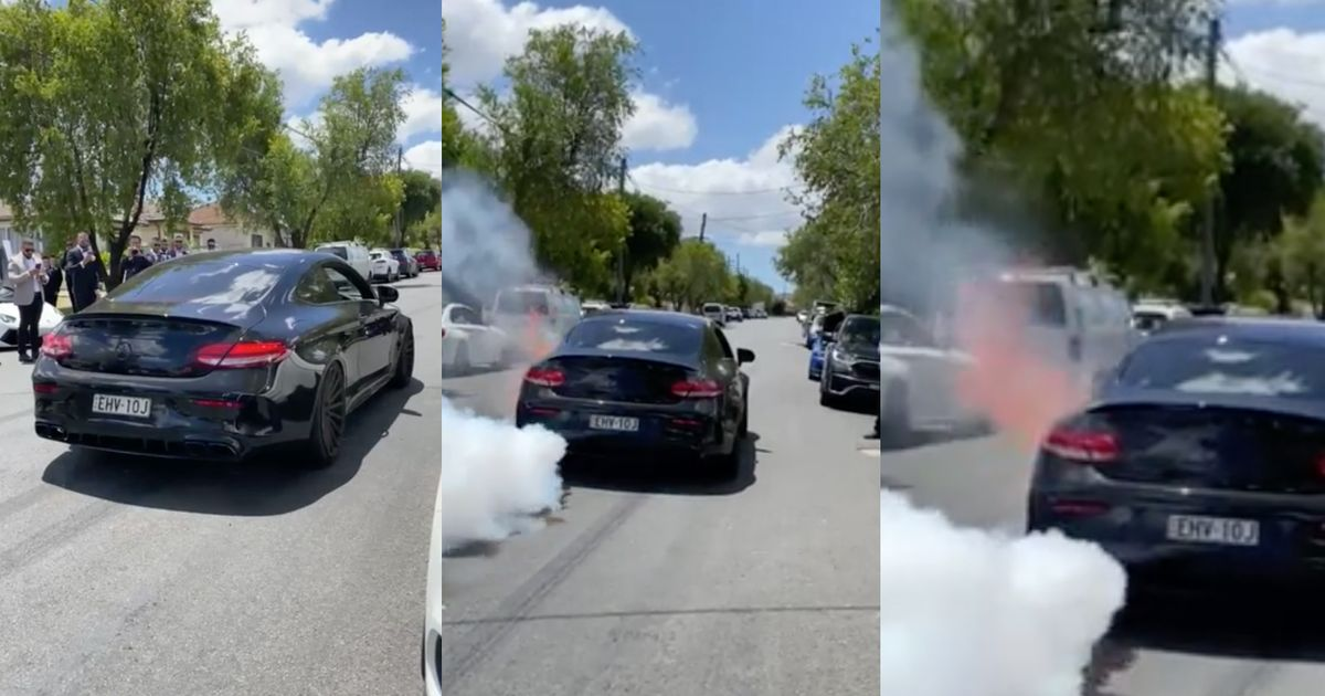 AMG C63 Driver s Burnout Attempt Results In Engine Explosion And Catastrophic Fire