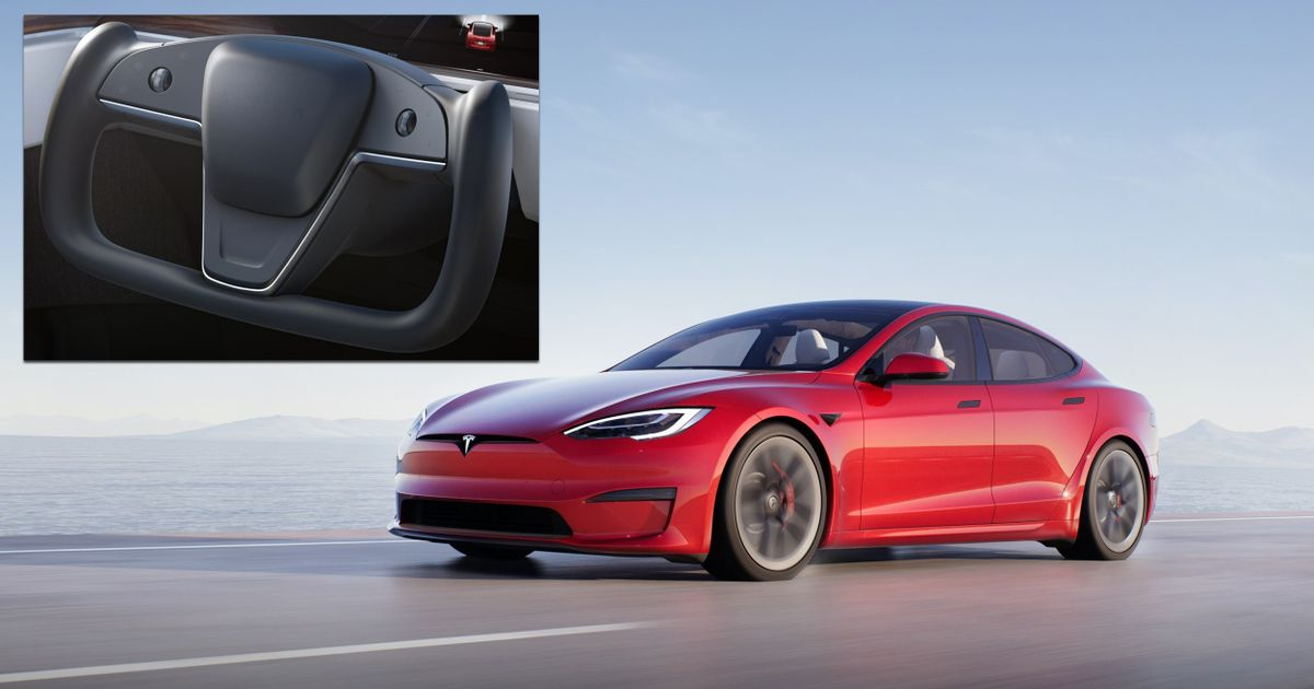 Updated Tesla Model S Has Silly Steering  Wheel  And 1000bhp Plaid Powertrain