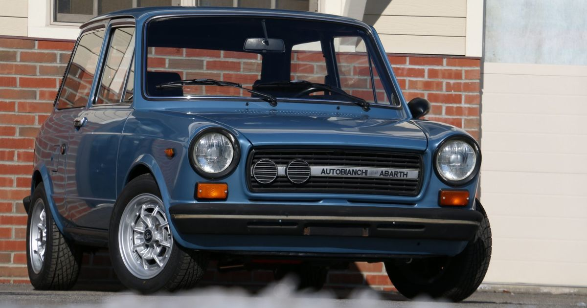The Forgotten Autobianchi A112 Abarth Is Like A Mini Cooper But Cooler