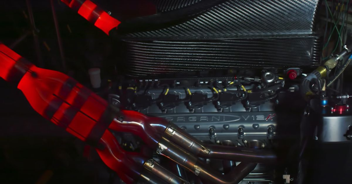 Pagani s New 9000rpm-Capable N/A V12 Sounds Like An Old F1 Car Engine