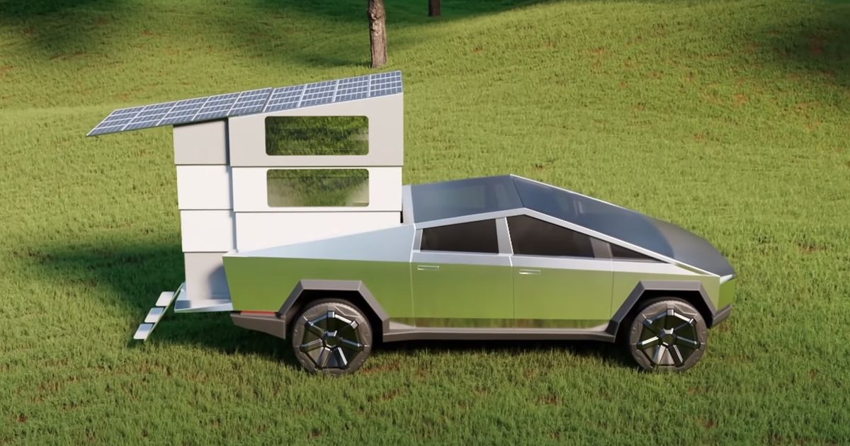 New CyberLandr Turns Tesla Cybertruck Into Bonkers Campervan