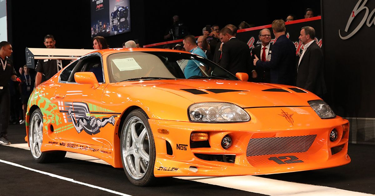 Automatic Fast & Furious Toyota Supra Sells For $550k At Auction