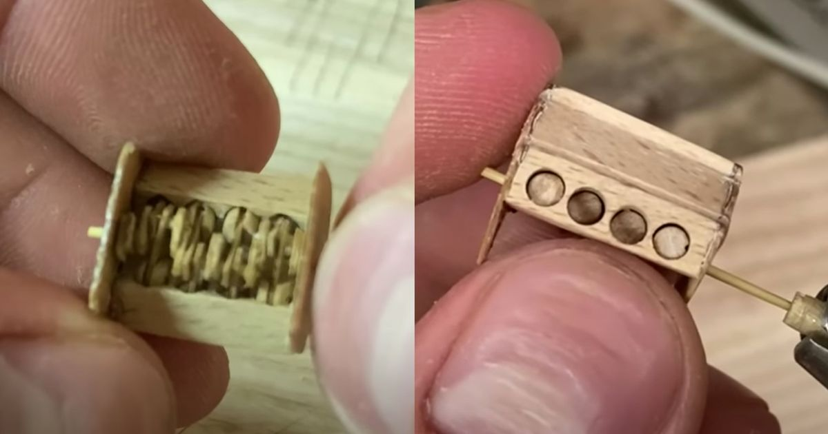 This Miniscule, Functioning Wooden V8 Is A Thing Of Engineering Beauty thumbnail