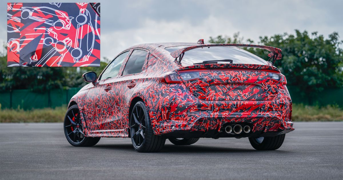 Honda Civic Type R Prototype Wears Neat Camouflage In Official Shots