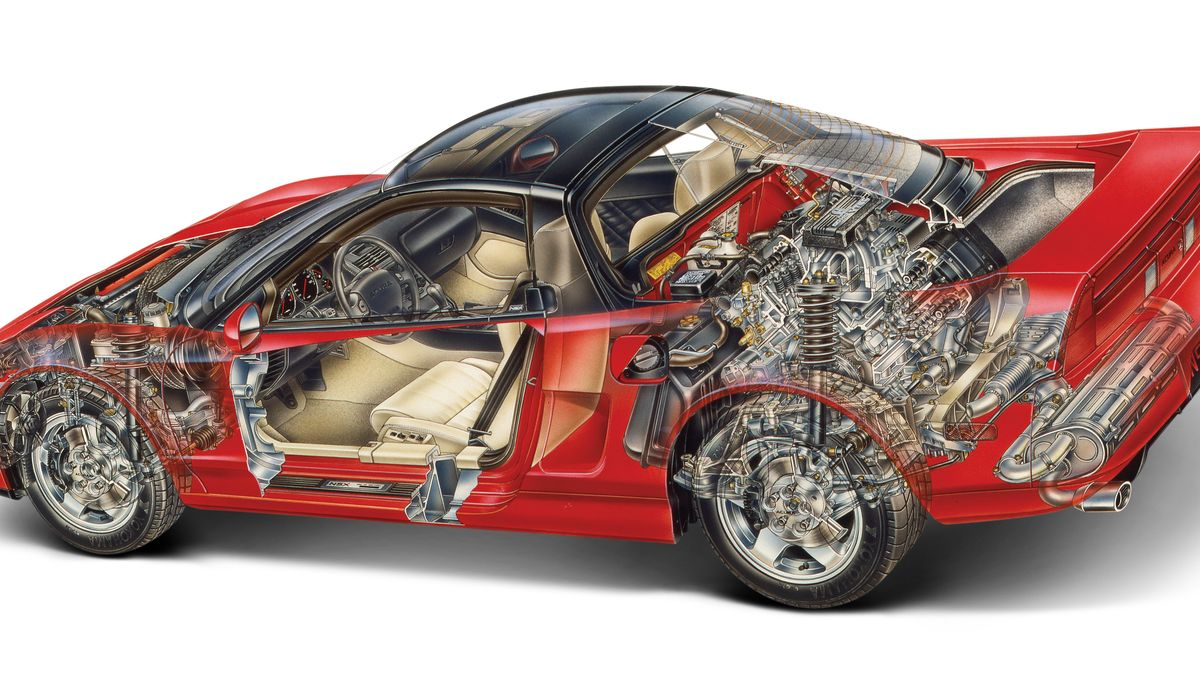 Fascinating Technical Facts About The Honda NSX - Acura nsx motor