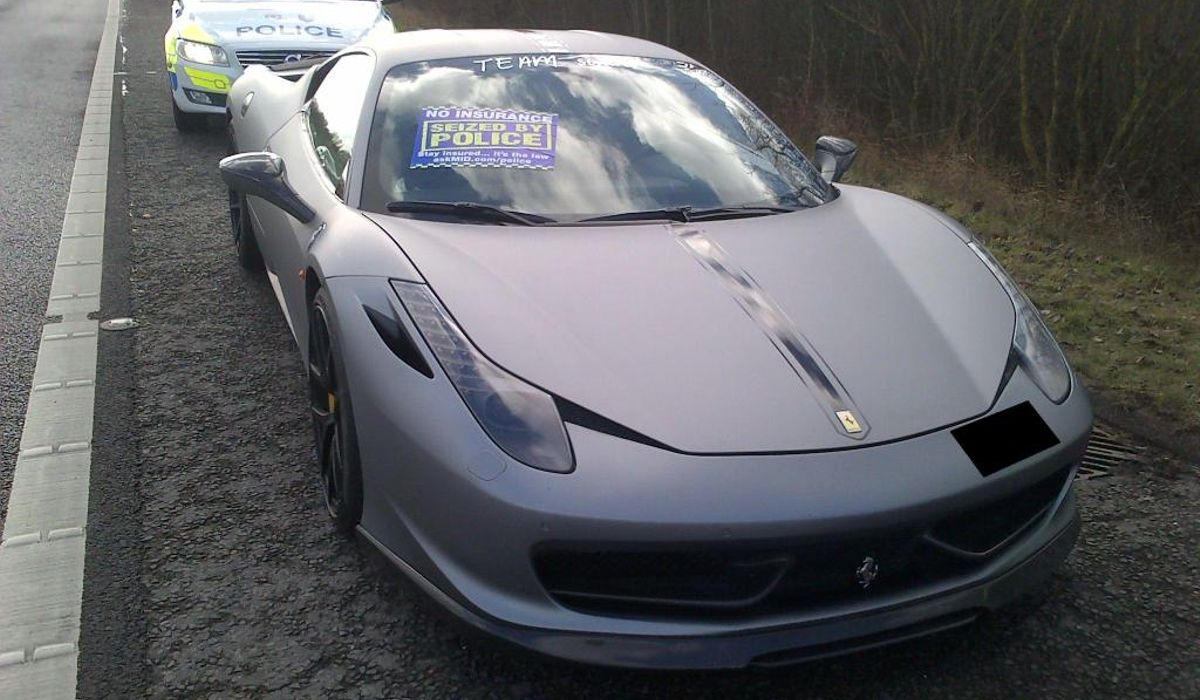This Gorgeous Matte Grey Ferrari 458 Was Just Seized By London Cops