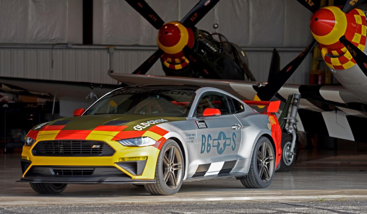 This ford old crow mustang pays homage to a legendary p 51 pilot