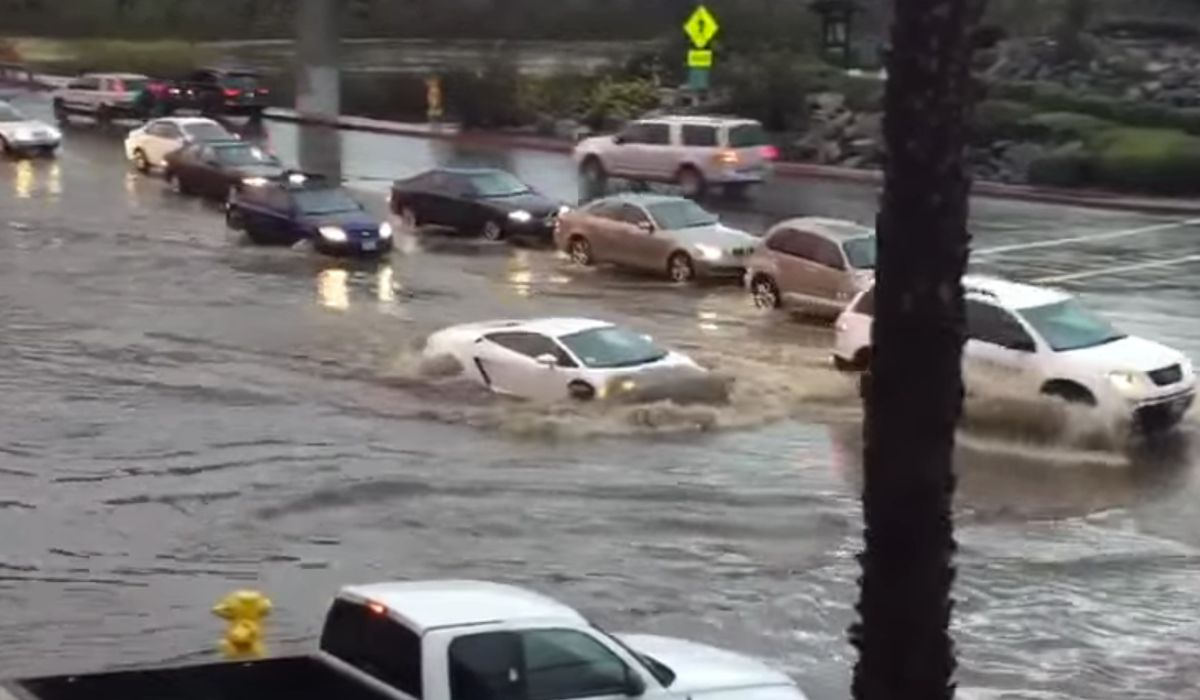 Gentil Watch This Lamborghini Gallardo Not Give A Damn About Massive Flood Water