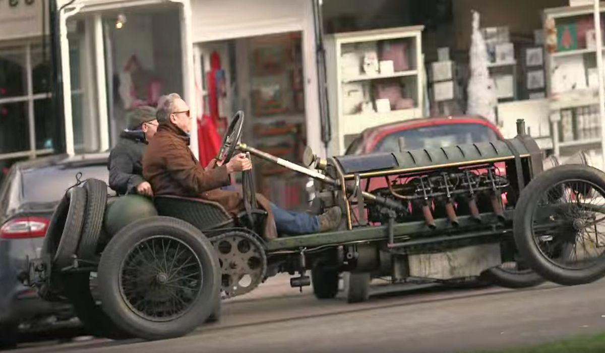 Driving 100-Year-Old Cars With Aeroplane Engines Looks Like The Most ...