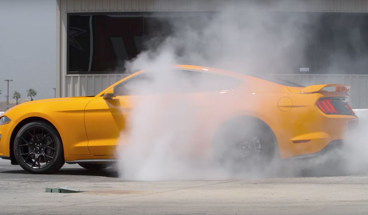 2018 ford mustang ecoboost owners can get in on the line lock burnout action 2018 ford mustang ecoboost owners can