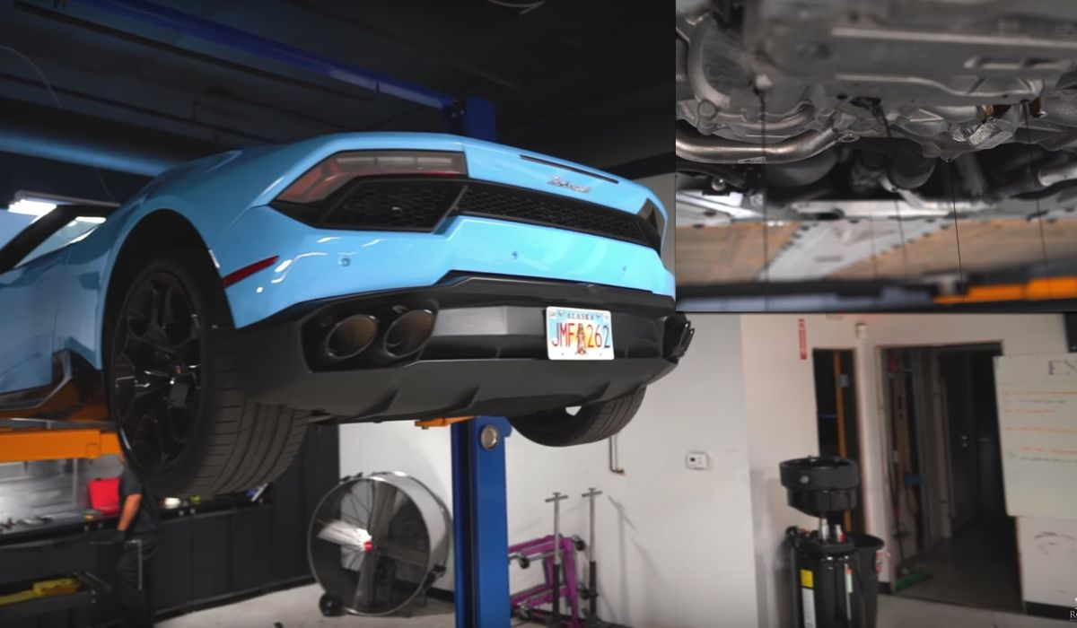 How much is an oil change for a lamborghini