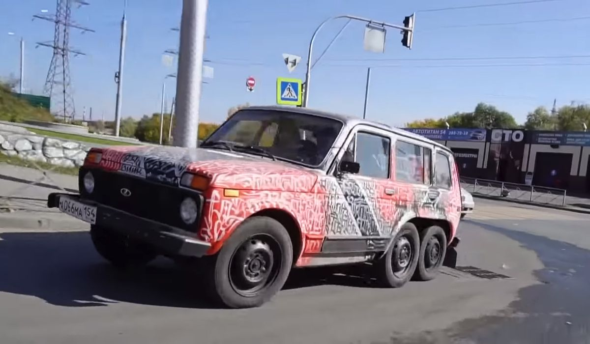 Move Aside Amg Here S A Homemade 6x6 Lada Niva