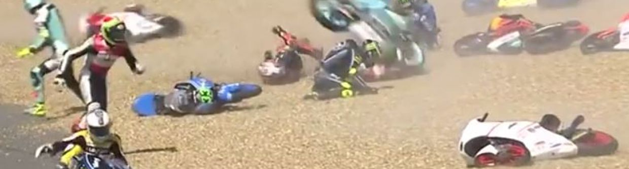 Half Of The Moto3 Field Crashed Out In One Corner At Le Mans
