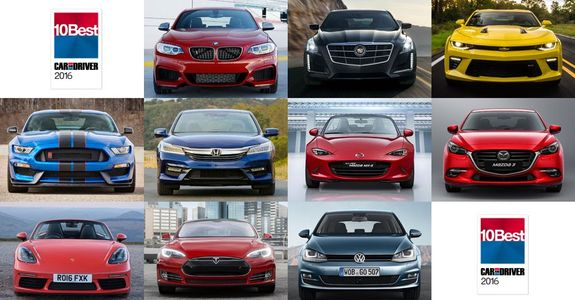 Car And Driver 10 Best >> Car And Driver Names Its 10 Best For 2016