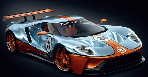 Debut At The Daytona  Hours A Couple Of Automotive Designers Have Imagined How The New Ford Gt Race Car Would Look With The Famous Blue And Orange