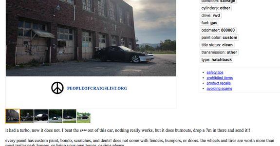 People of Craigslist on Car Throttle
