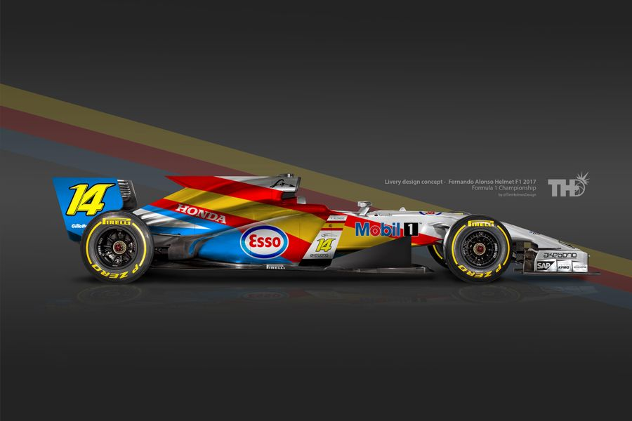 If F1 Helmet Designs Were Liveries, The 2016 Grid Would Look Like This
