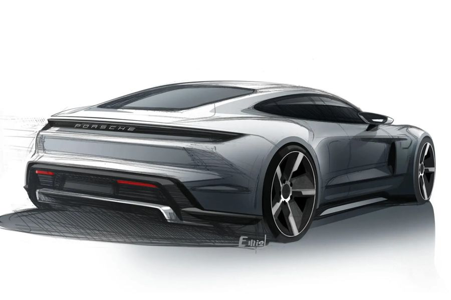 Porsche Taycan Design Sketches Provide Yet Another Teaser For The Ev