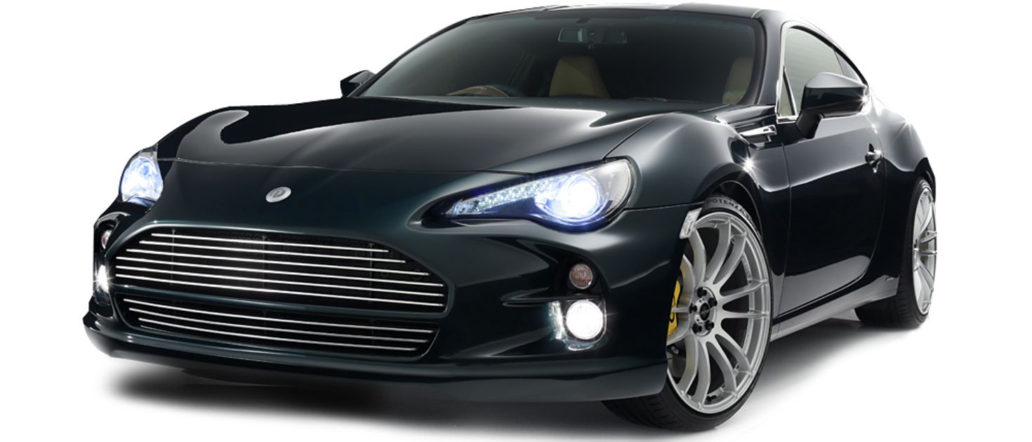 this aston martin face transplant is a toyota gt86 body. Black Bedroom Furniture Sets. Home Design Ideas