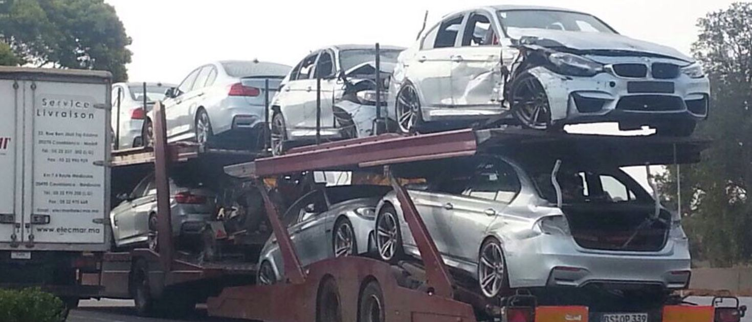 these f80 bmw m3s were wrecked while filming mission impossible 5