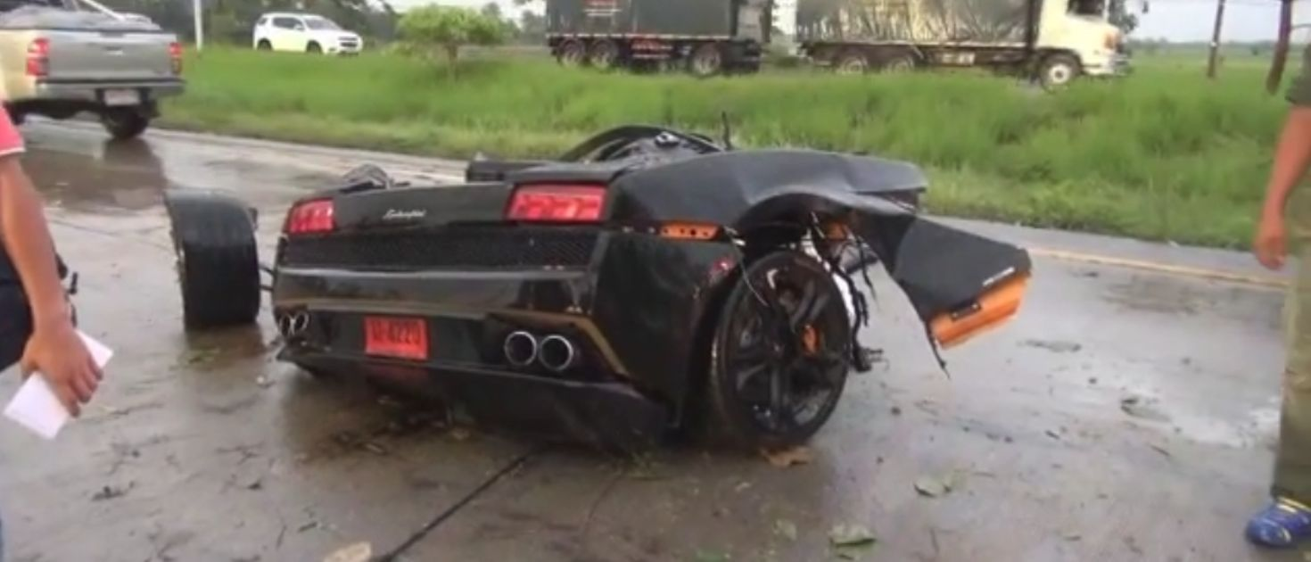 Watch This Lambo Driver Casually Joke On The Phone After A High