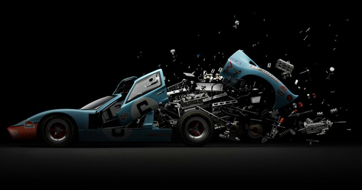 This Guy Explodes Classic Cars To Create Stunning Artwork