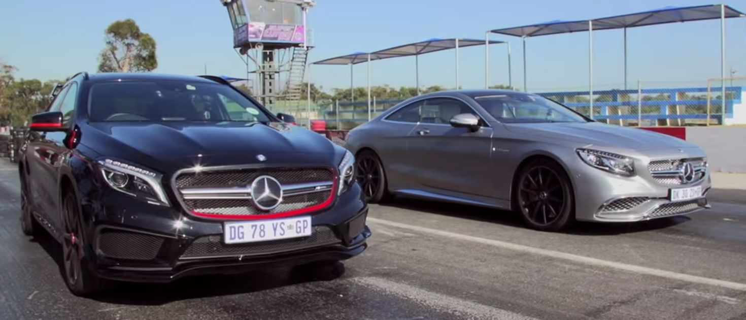 this mercedes drag race pits amg u0026 39 s smallest