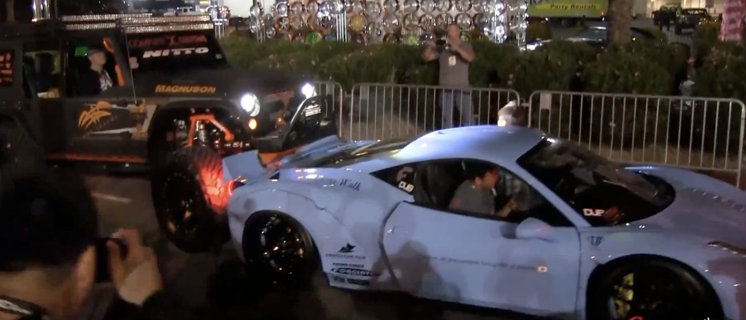 Watch The Terrible Moment A Lifted Truck Rear Ends A Liberty Walk