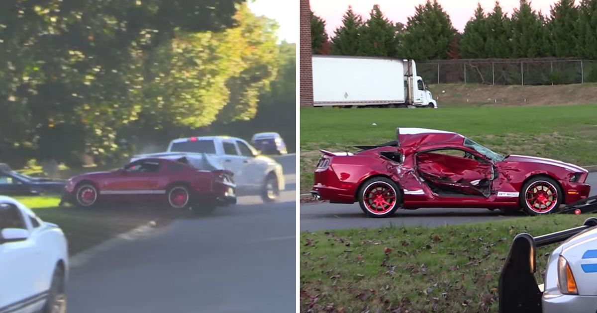 This Horrific Car Show Crash Left A Shelby Mustang GT500 ...