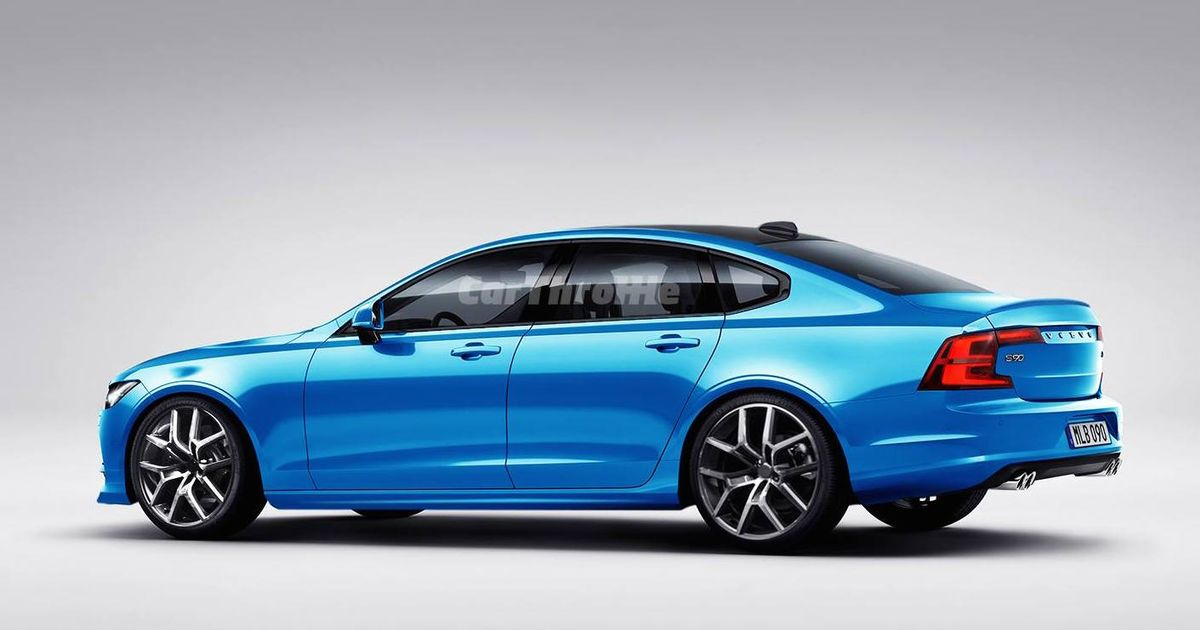 Volvo S90 T8 >> Here's How Sexy A 500bhp+ Volvo S90 Polestar Could Look